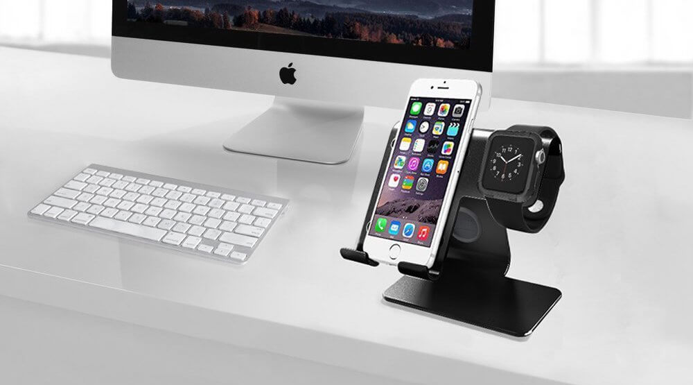 2 in 1 Desk Cellphone and Apple Watch Stand