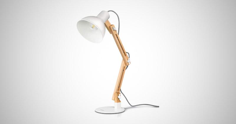 Multi-Angle Wood Desk Lamp