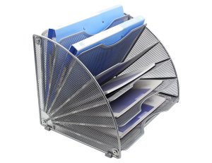 EasyPAG Fan-Shaped Desk File Organizer2