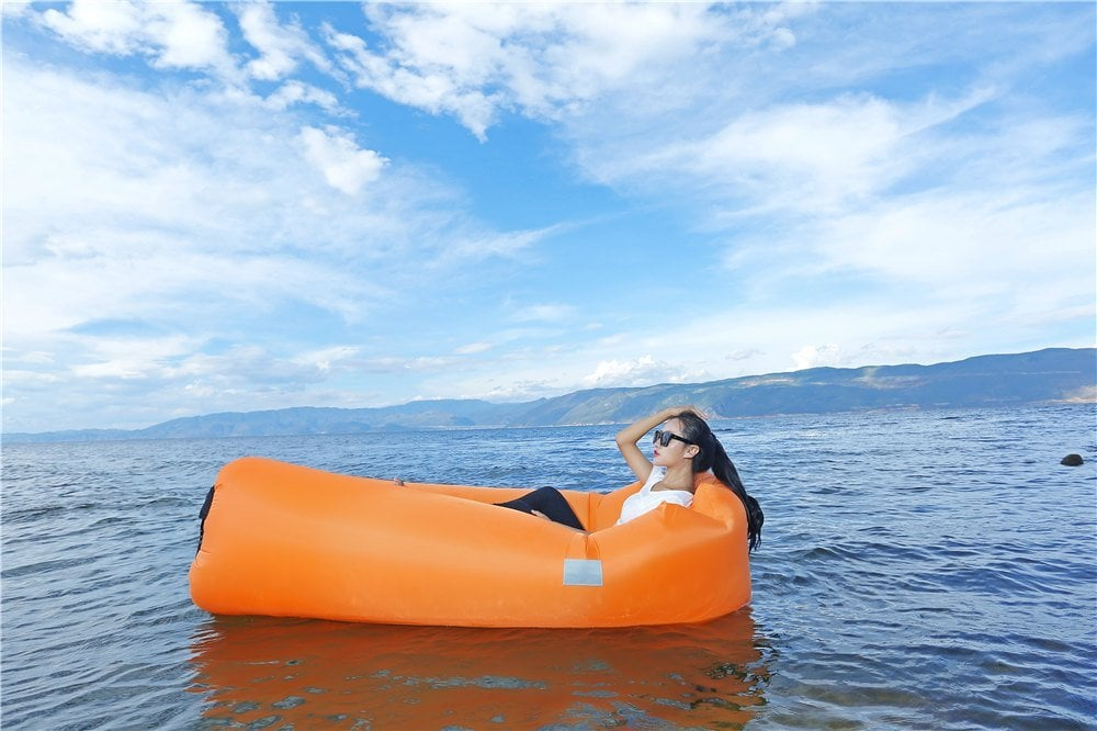 Inflatable Lounger Air Couch Water Proof& Anti-Air Leaking Design