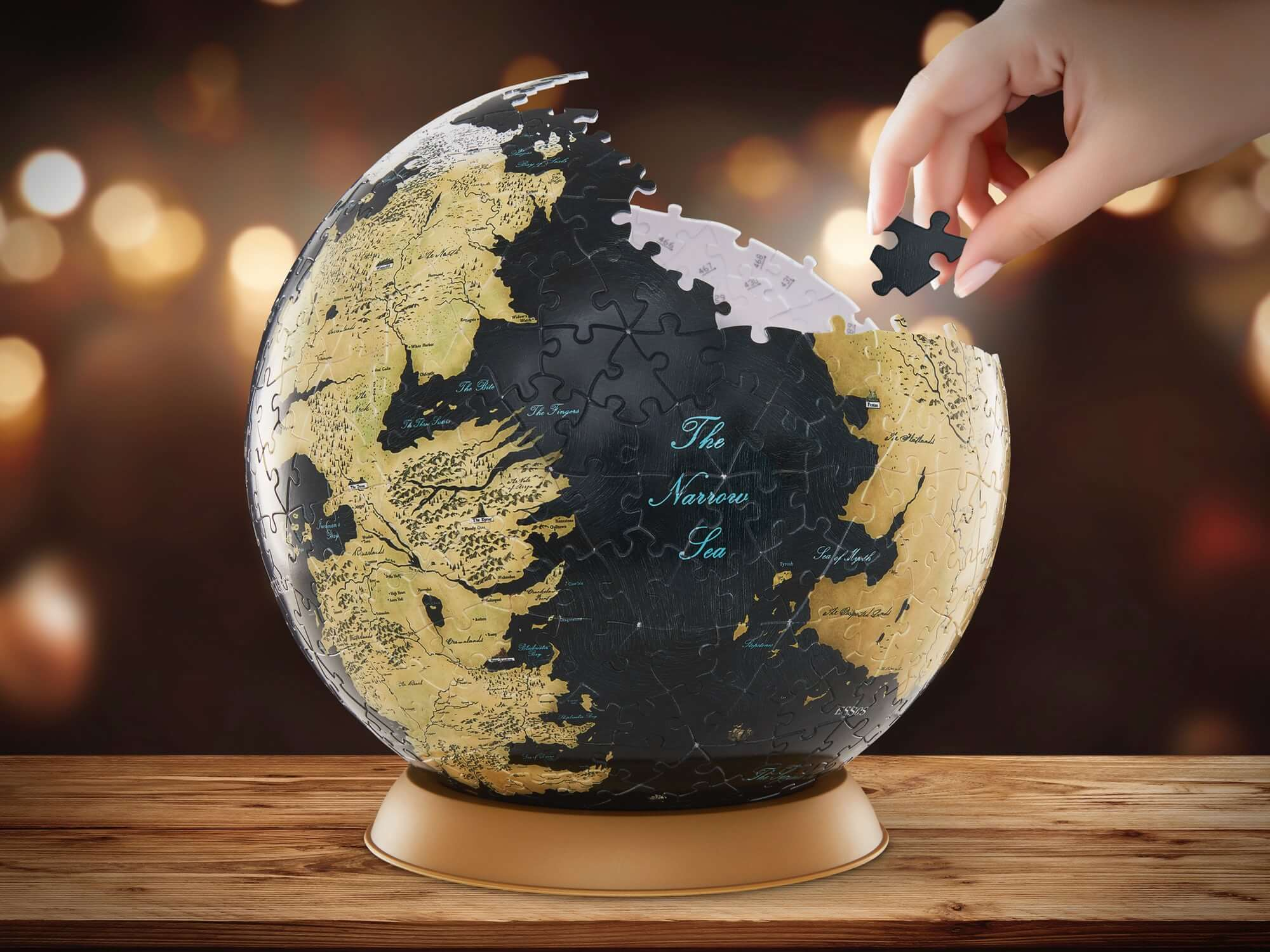 Globe Puzzle 3D Westeros and Essos 9-inch Puzzle
