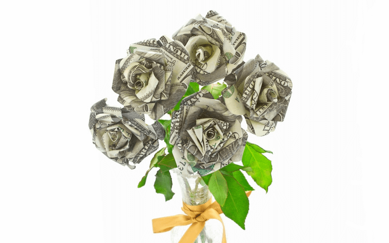 Money Bouquet Dollar Bill Flower - Creative Ways to Give Money - Geartry