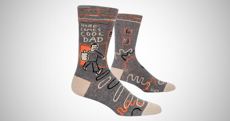 New Dad's Novelty Crew Socks