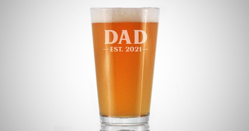 Pint Glass for New Dads