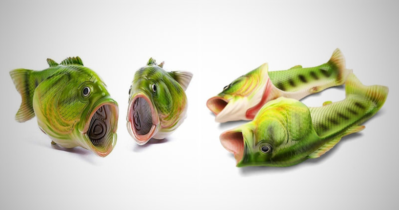 Green Fish Slippers