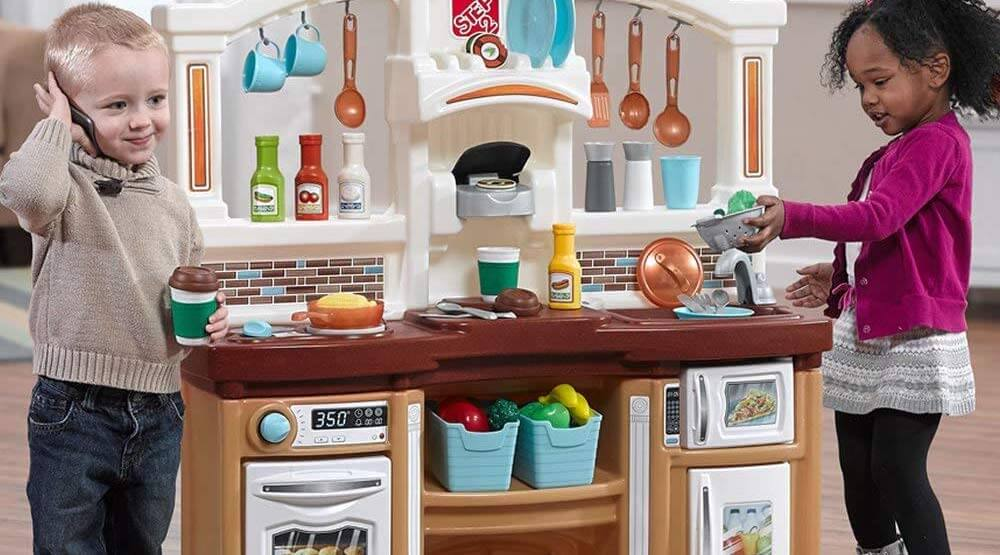 Large Plastic Kitchen Play Set