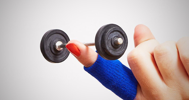 Finger Weightlifting