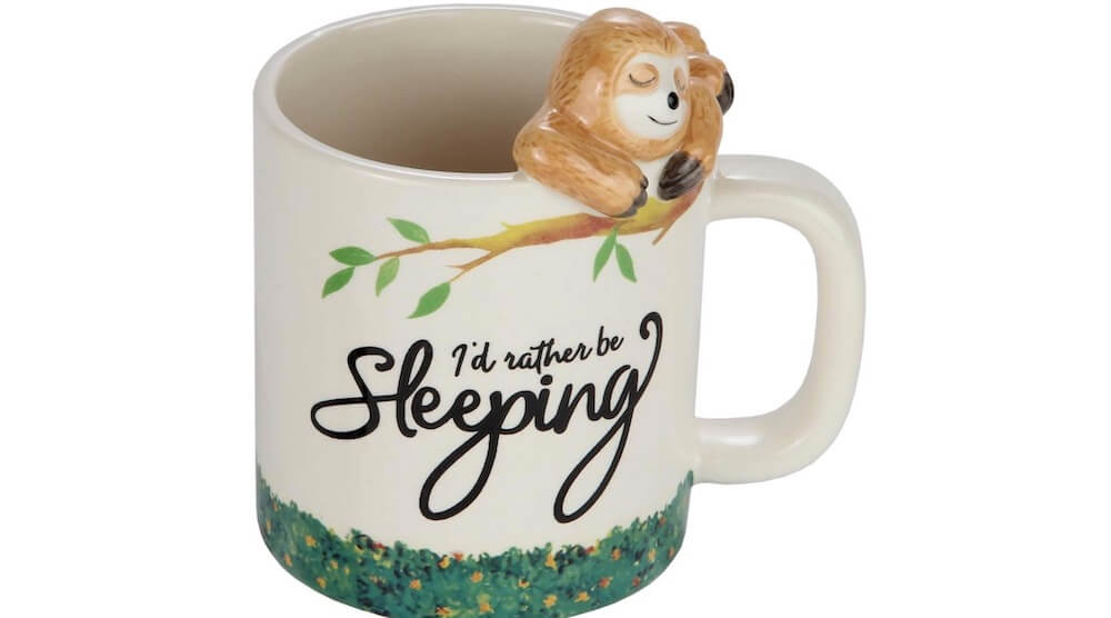 3D Lazy Sloth Coffee mug I Rather Be Sleeping