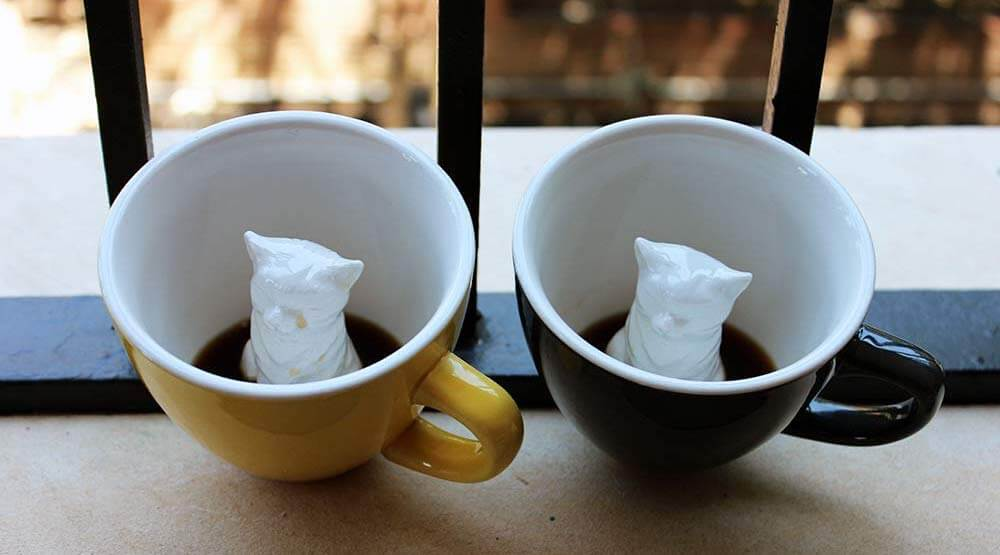Hidden Animal Inside Coffee Mug