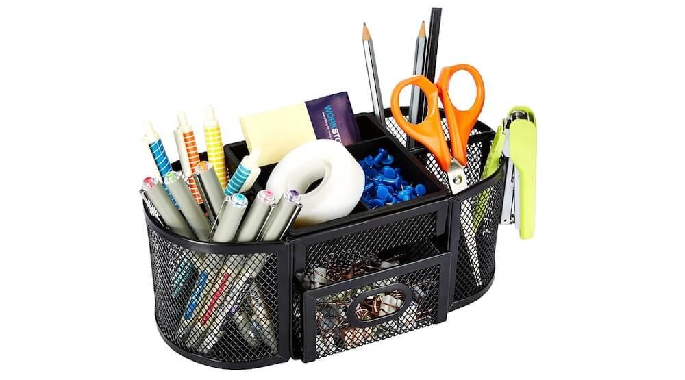 Amazon Basics Mesh Desk Organizer
