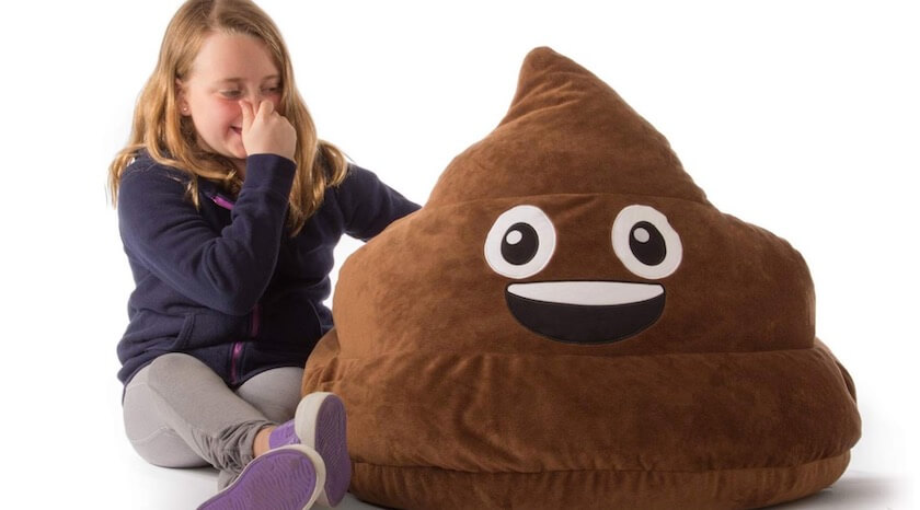GoMoji Emoji Simply Relax Bean Bag Chair