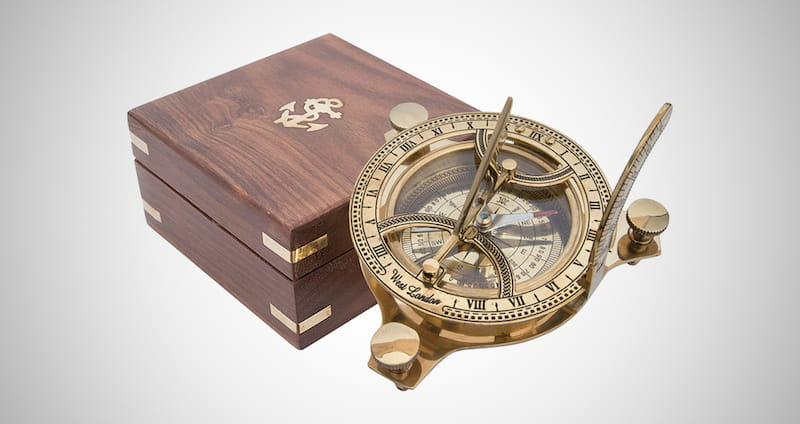 Compass Solid Brass Sun Dial