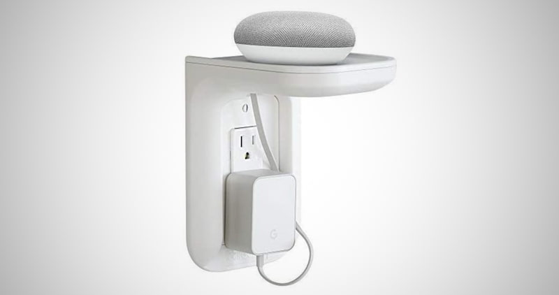 Space-Saving Outlet Shelf