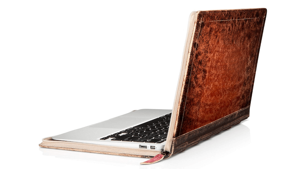 Old School Artisan Leather Book case/Sleeve for 11-inch MacBook Air
