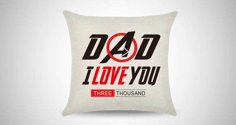 I Love You 3000 Father's Day Pillow Covers