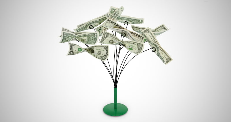 Tabletop Money Tree