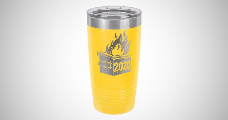 Dumpster Fire Insulated Travel Mug