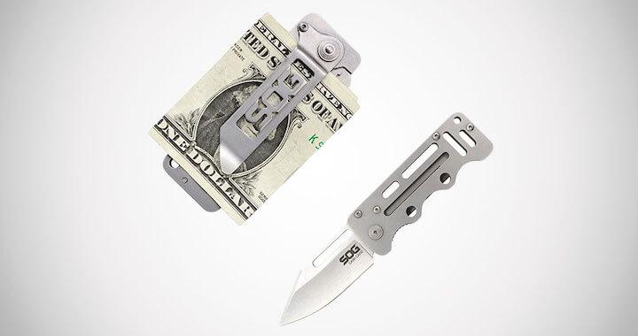 SOG Money Clip Pocket Knife