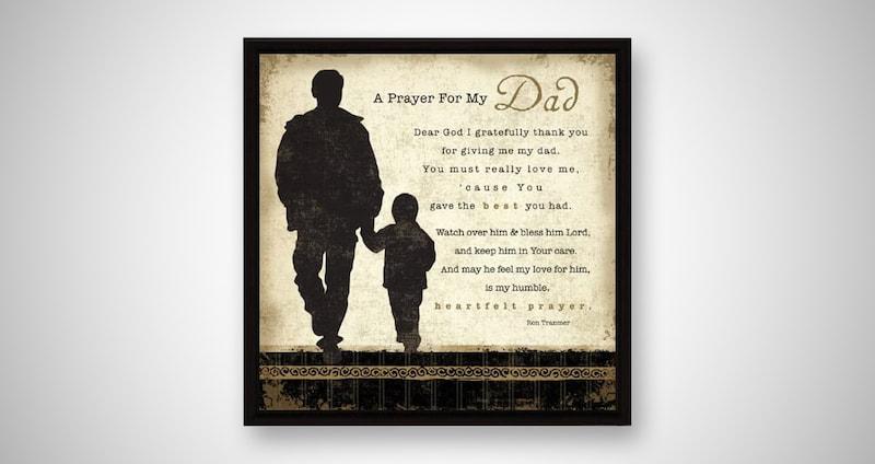 Dad Prayer Wood Framed Plaque