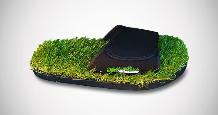 GrassSlides Real Turf Sandals