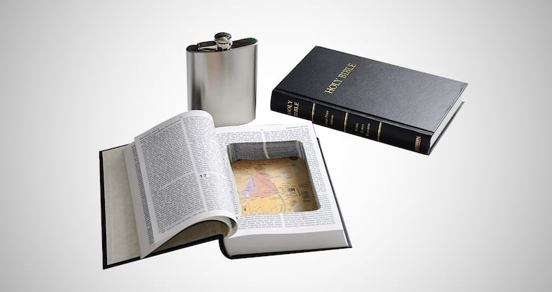 Bible Book Funny Hidden Flask