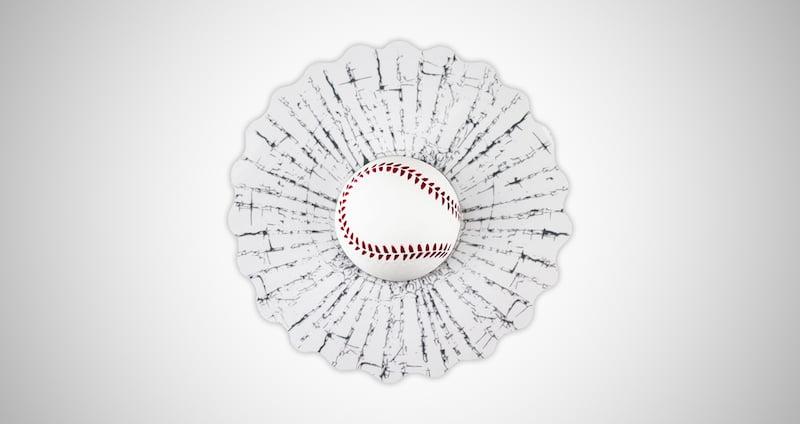 Baseball Car Window Sticker