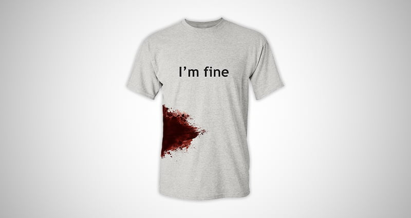 I'm Fine Men's Funny T-Shirt