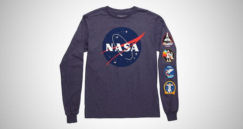 NASA Logo Adult Long Sleeved T-Shirt