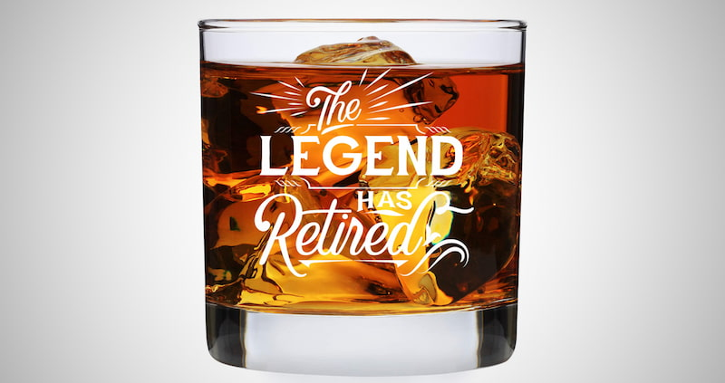 The Legend Has Retired Whiskey Glass