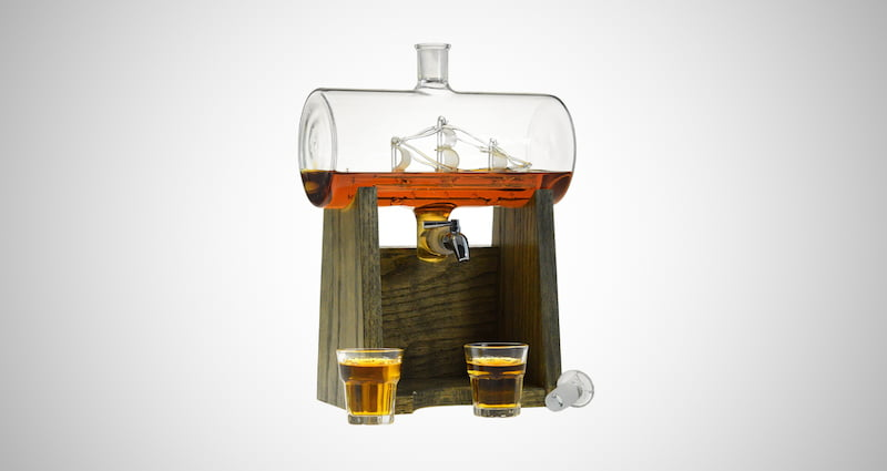 Ship in a Bottle Whiskey Decanter