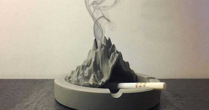 Volcano Shaped Smoking Ash Tray