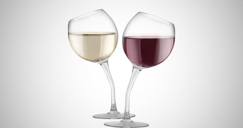 Tilted Wine Glass Set