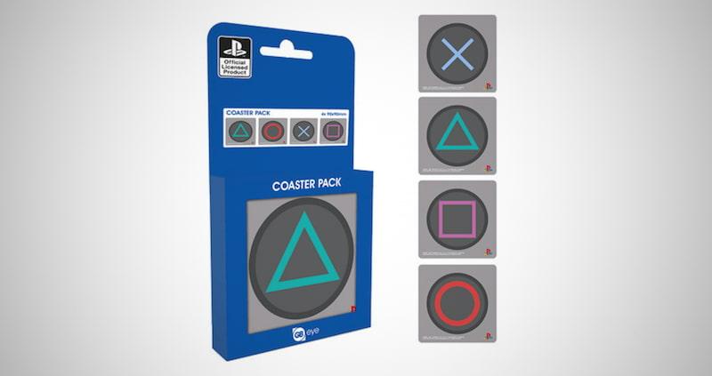 Playstation Metal Drink Coasters