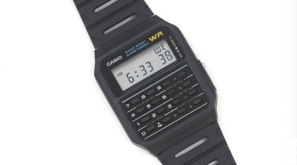 Casio Men's Vintage Calculator Watch