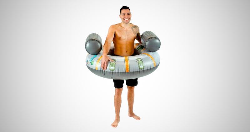 Inflatable Rick's Ship Pool Tube