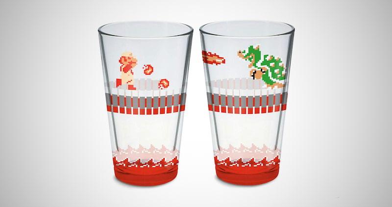 Super Mario Bros Glass Set