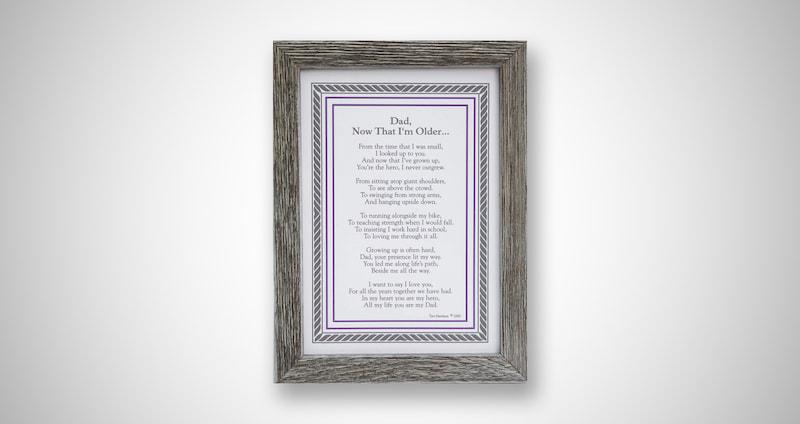 Wood Poetry Frame