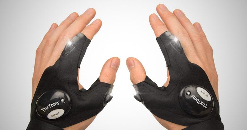 Mens LED Flashlights Gloves