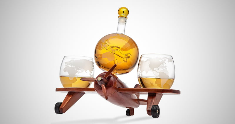Godinger Airplane Whiskey Decanter