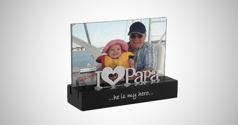 I Love Papa Desktop Picture Frame