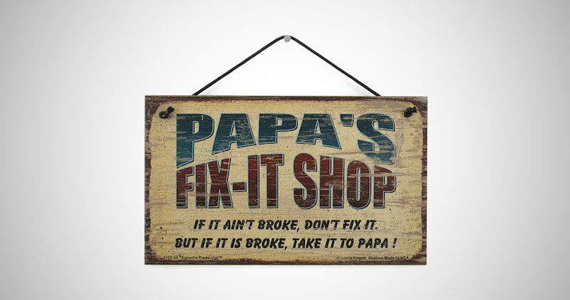 Papa's FIX-IT Shop Sign