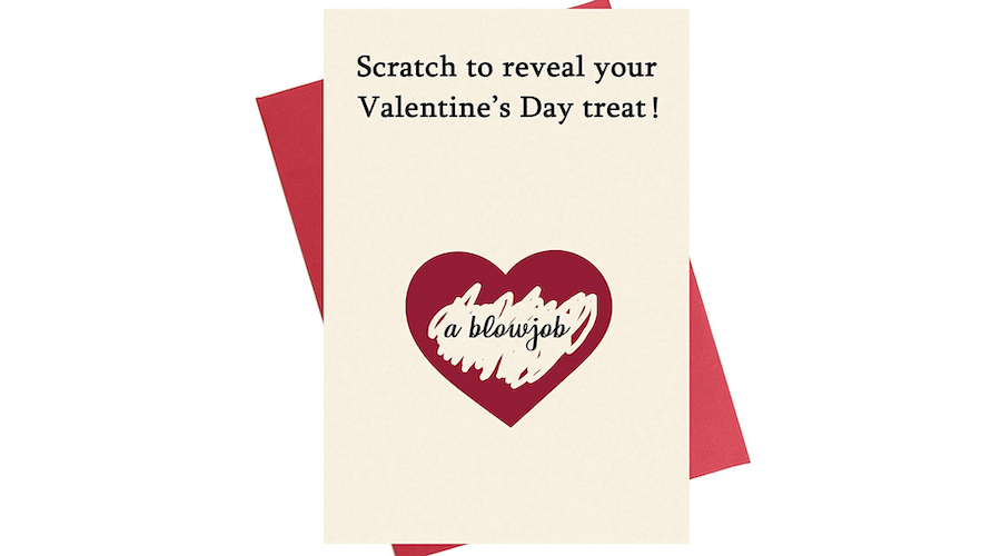 Scratch Valentine's Day Card For Him