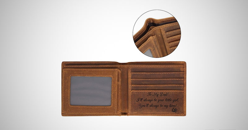 Personalized Bifold Wallet for Dad
