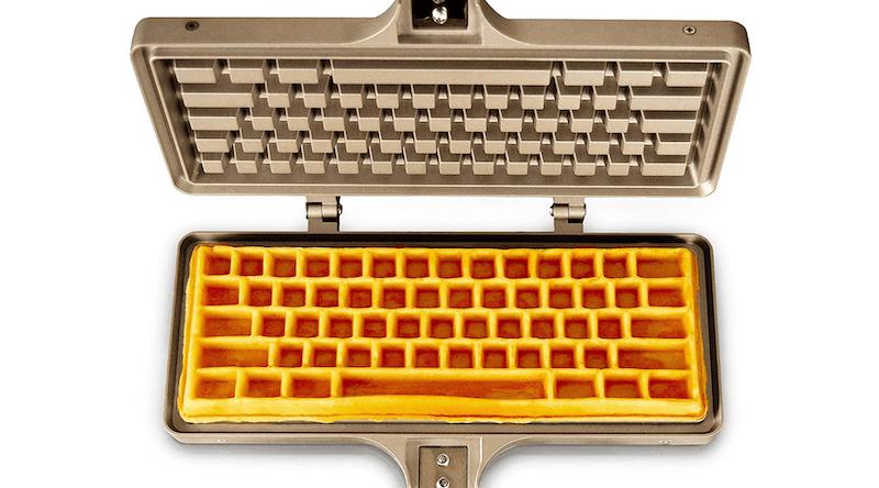 Keyboard Waffle Iron Maker