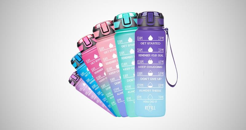 Motivational Time Marker Water Bottle