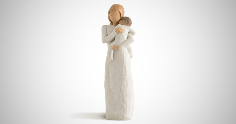 New Mom and Baby Sculpted Figure