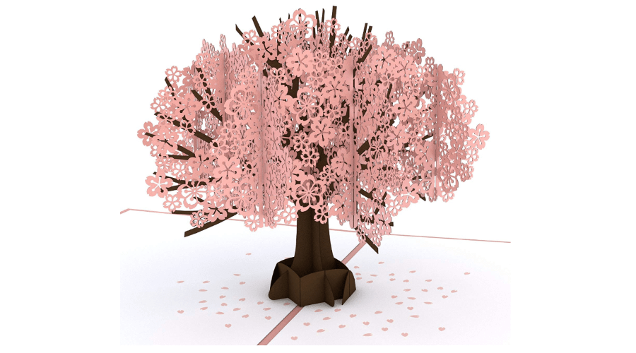 Cherry Blossom Pop Up Card
