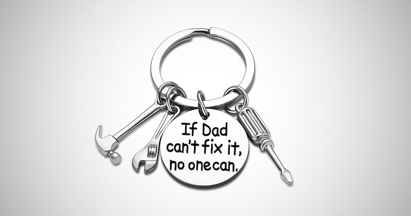 Funny Keychain for Dad