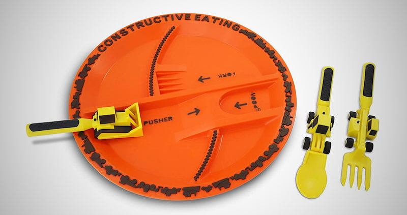 Utensil Set and Plate for Toddlers