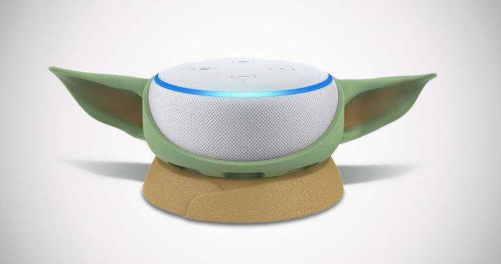 Baby Yoda Amazon Echo Dot Holder
